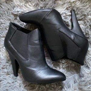 Charlotte Russe black booties (size 7)